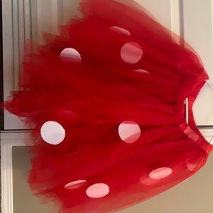 Mini mouse tulle skirt